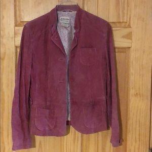 Washable suede blazer. Medium. Pink.